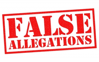 accused of false allegations
